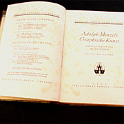 SALE 1920 Art Deco-Era German Edition Adolph Menzel(s) Art Book