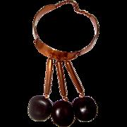 SALE Outré Copper & Wood Collar-Bib Necklace: Huge!