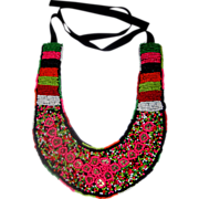 SALE Seed-Bead Tribal Necklace: Afro-Centric