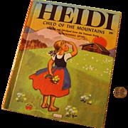 "Wonder Book 1950 Edition ""Heidi Child of the Mountains"" by Johanna Spyri"