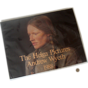 """SALE Pristine 1988 Andrew Wyeth """"The Helga Pictures"""" Calendar: In Plastic"""