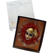 SALE Big Brinn's Lady Face Brooch: Blonde Beauty: Mint in Box