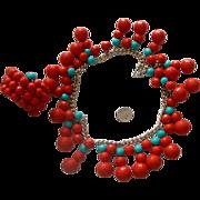 Celebratory Necklace & Bracelet: Western Germany: New/Old Stock