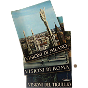 SALE Big 1950s-60s Italian Travel Books: Milan, Rome, Tigullio Coast