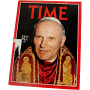 10/30/78 Time Magazine: Pope John Paul II Investiture Cover Story