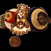 SALE Queen Lady-Face Bracelet:  Royal Arm Candy: Fits Larger Wrists
