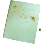 "SALE Big 1910 ""Baby's Own Book"": Baby Journal, Baby Book:  BLANK Pages: By Clara ..."