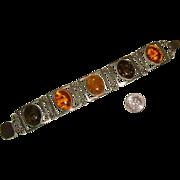 Handsome Honey- & Green-Amber Bracelet