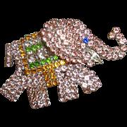 SALE NICE PRICE!  Rhinestone Pink Elephant Pin