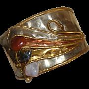 SALE Marvy Modernist - Brutalist Cuff Bracelet