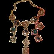 Mind-Boggling Bib Necklace: C. 1990s
