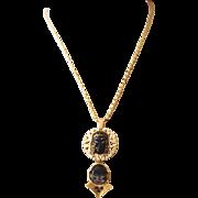 Unsigned Selro - Selini Asian Princess + Laughing Buddha Face Pendant Necklace