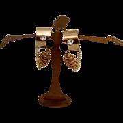 Sharp-Looking Machine-Age Modernist Earrings
