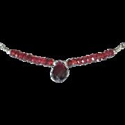 SOLD Orissa Garnet Necklace by Pilula Jula 'The Reflex'