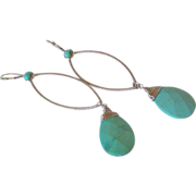 Pastel Blue Turquoise Earrings by Pilula Jula 'Dweller in a Dream'