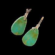 SOLD Turquoise & 14k Gold Fill Earrings by Pilula Jula 'Bird Girl II'