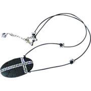 Modern Cross Leather Necklace by Pilula Jula 'Tender Mercies'