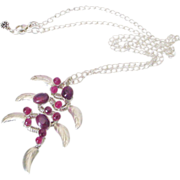 Gem Rubies Wire Wrapped Mango Necklace by Pilula Jula 'Ruby Slippers'