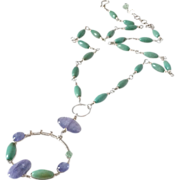 SOLD Tanzanite Turquoise & Emerald Necklace by Pilula Jula 'Relentless II'
