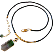SOLD 25.5 CT Multi Color Gem Tourmaline Necklace by Pilula Jula 'Split Your Infinities'