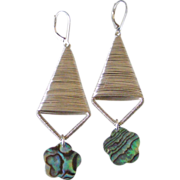 Paua Shell Flower Earrings by Pilula Jula 'Both Sides Now II'
