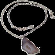Drusy Diamonds & Drusy Quartz Pendant Necklace by Pilula Jula 'West Coast Rock'