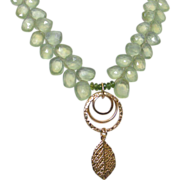 Prehnite Pendant Necklace by Pilula Jula 'Come Alive'