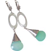 Gem Chrysoprase Earrings by Pilula Jula 'Whirlwind""