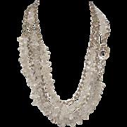 SOLD Herkimer Diamond Quartz Body Necklace by Pilula Jula 'Icicles'
