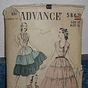 1940s Advance Pattern 5867