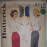 Vintage Butterick Pattern - Quick and Easy Skirt