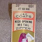1950s Dead Stock Metal Zipper J&P Coats