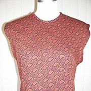 SALE 1950s Cropped Style Knit Blouse / Top
