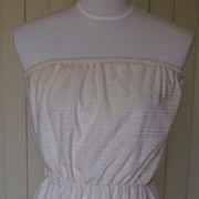 SALE 1970s Vintage Strapless Sun Dress