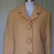 1950s Vintage Nubby Wool Suit