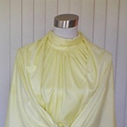 1970s Sunshine Yellow Prom Gown / Formal