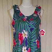 1960s / 1970s Hawaiian Floral Maxi Dress - NWT
