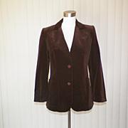 1970s Beautiful Chocolate Brown Jacket - Giorgio Marini