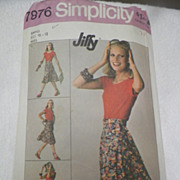 1977 Simplicity Pattern for Misses' Wrap Skirt
