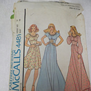 1975 McCall's Pattern for Misses' Dress