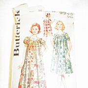 1960s Butterick Pattern for Misses' Muu Muu