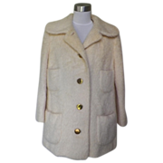 1960 / 1970 Pale Yellow Furry Jacket - Young Elegant