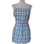 1960s Vintage Colorful Striped Play Suit