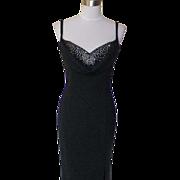 1980s / 1990s Vintage Black Evening Gown - Scott McClintock
