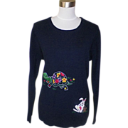 1970s Vintage Navy Blue Sweater by Leroy