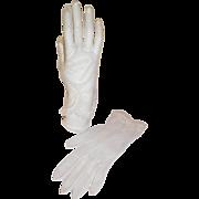 1950s Vintage Sheer White Gloves