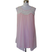 1960s / 1970s Vintage Pink Baby Doll Nighty
