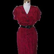 1980s Vintage Red and Black Dress - Taurus II