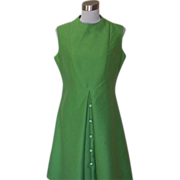 1960s Vintage Lime Green Cocktail / Sheath Dress