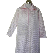 1960s Vintage Pale Pink Quilted Robe
